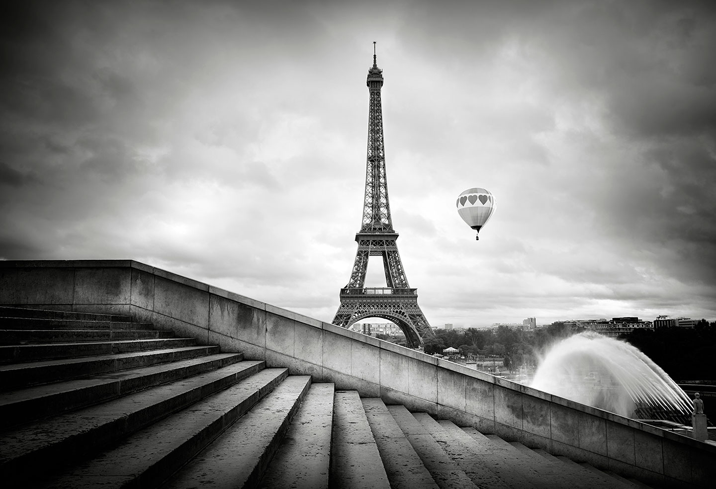 Hot air ballom and Eiffel Tower, Hot air ballom and Eiffel Tower Eiffel tower from Trocadero garden : Stock Photo      Comp     Embed     Share     Add to Board  Eiffel tower, from Trocadero garden